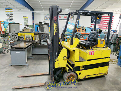 2,200 Lbs., Used Drexel Electric Swing Mast Forklift, Mdl. SLT22, A4793
