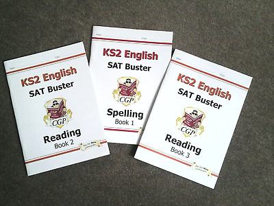 3 NEW Books: KS2 English SAT Buster Reading Books 2 and 3 / Spelling Book 1