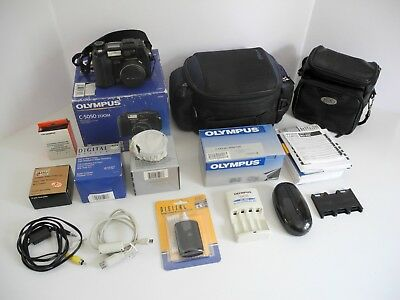 Olympus Camedia C-5050 5MP Digital Camera with 3x Optical Zoom with Extras