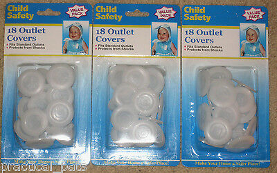 Lot-54 NEW Baby Toddler Child Proof Electric Plug Outlet Cover Shock Safety 18x3