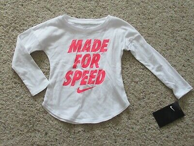 Nike Girls Long Sleeve Shirt Made For Speed 2T