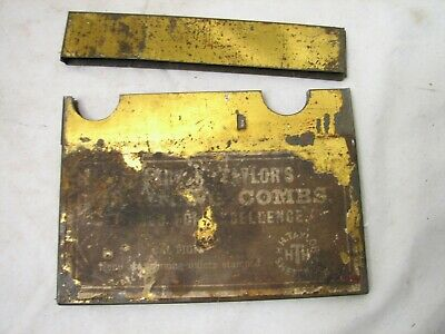Early Primitive Taylor Grain Painting Combs Painters Tools Furniture w/Case