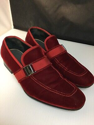 960d925ed0546 Salvatore Ferragamo Danny 2 mens velvet loafers shoes 9US made in Italy
