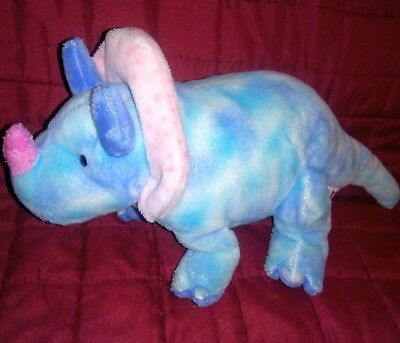 Ty Pluffies ~ TROMPS the Triceratops Dinosaur ~ Plush Toy ~ MWMT