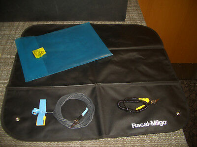 Racal-Milgo Anti-Static Mat With Ground Cord and strap