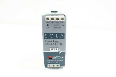 Sola SDN 2.5-24-100 Power Supply 115/230v-ac 2.5a 24v-dc