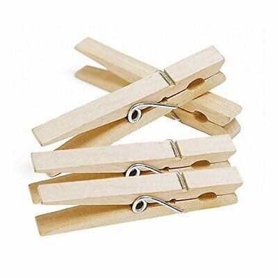 42X Strong Wooden Clothes Pegs Laundry Bag Washing Line Peg Holder Airer Drying