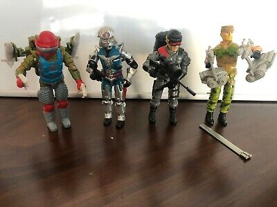 Vintage Gi Joe ARAH partially complete lot:  4 figures Lowlight, Cobra Commander