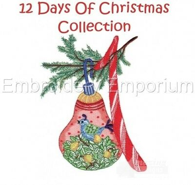 12 Days Of Christmas Collection - Machine Embroidery Designs On Cd Or Usb