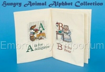 Hungry Animal Alphabet Collection - Machine Embroidery Designs On Cd Or Usb