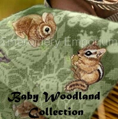 Baby Woodland Collection - Machine Embroidery Designs On Cd Or Usb