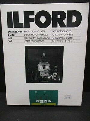Ilford Multigrade IV fiber base DW Matt MGF.5K B&W paper 8 X 10 3 packages open