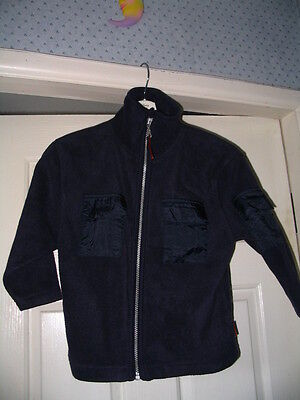 George Boys Navy Fleecy Jacket Age 4/5 Brand New