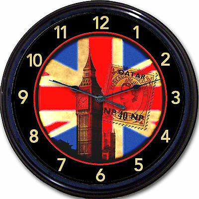 British Union Jack Big Ben Wall Clock London Queen Elizabeth Jubilee England UK