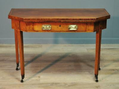 Attractive Antique Victorian Inlaid Mahogany Fold Over Tea Hall Table