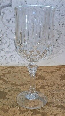 Set of 2 Cristal D'Arques Longchamp 24% Lead Crystal Wine/Cordial Glasses