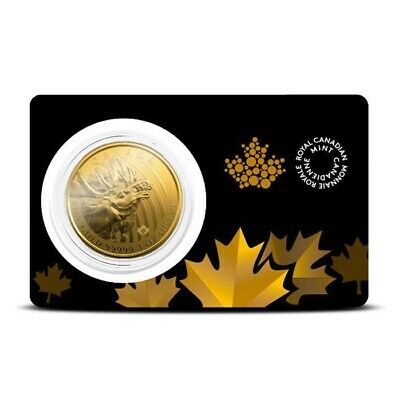 2019 1 oz Canada .99999 Gold Moose Coin - Call of the Wild