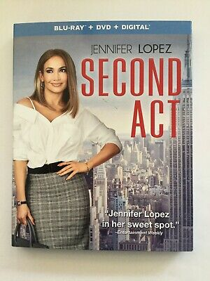 Second Act, Blu-ray, & Digital (iTunes ONLY), NO DVD INCLUDED, Disc Like New!!!