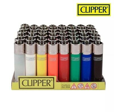 4 Clipper lighters Solid Original full Sized Refillable