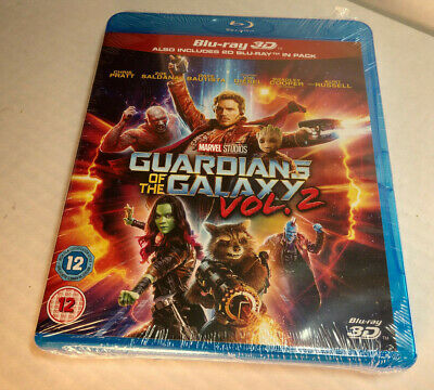 Marvel Guardians of the Galaxy Vol.2 (3D+Bluray) REGION FREE-Brand NEW (Sealed)