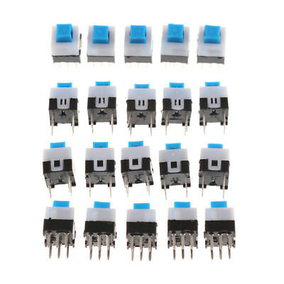 10PCS 7 x 7mm PCB Tact Tactile Push Button Switch Self Lock 6 Pin  Lc