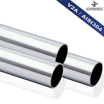 33,7 x 2mm Stainless Steel Pipe Handrail Tubing round Tube V2a 2800mm