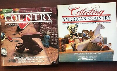 Book Lot American Country Style Source Collecting Mary Emmerling