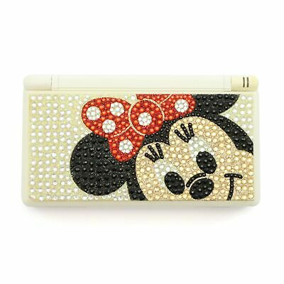 Nintendo DS - Konsole Lite #weiß Bling Minnie Mouse Custom Design + Stromkabel