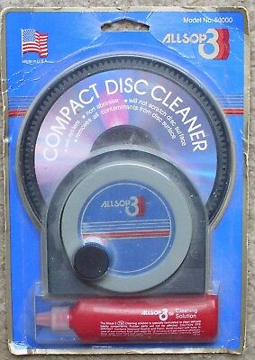 Vintage ALLSOP 3 Compact Disc Cleaner NIB MODEL 500000 CHECK IT OUT!