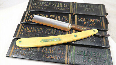 Straight Razor Solingen Star BOXED with 3 Extra Boxes