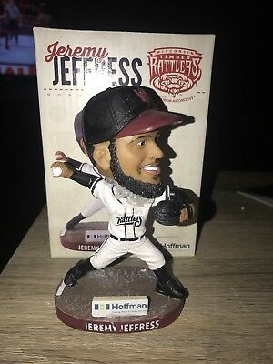 2018 Wi Timber Rattlers Jeremy Jeffress Sga Bobblehead Brewers  Bobble Milwaukee