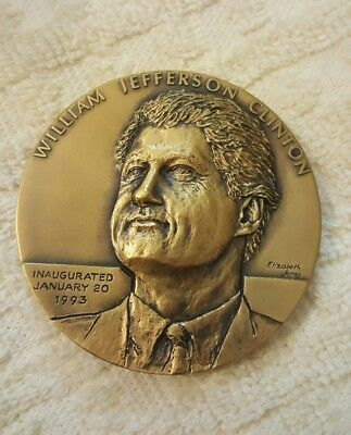 First Term Inauguration Bronze Medal 33mm Coin 1993 William J • Bill Clinton