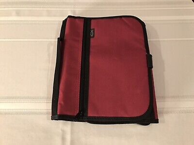 Bible Cover/Organizer. XL Size Cranberry Tri-fold design. Never used.