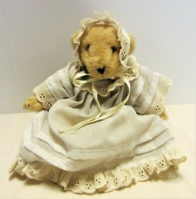 Vanderbear Jointed Bear White Nightgown & Cap North American Bear Company 1982