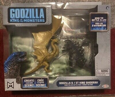 """GODZILLA KING OF THE MONSTERS & KING GHIDORAH"" Toy Fig Set (2019, Jakks) Kids"