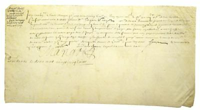 "Louis XIII / Manuscript document signed ""Mangot"" with one additional 1633"