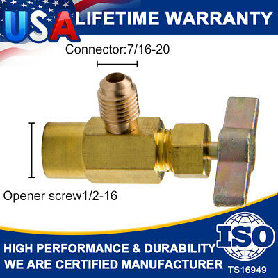 R134a Refrigerant AC Can Bottle Tap 1/2ACME Thread Alloy Adapter Opener Valve US