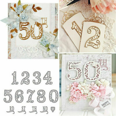 Lace Numbers Metal Cutting Dies Stencil Scrapbooking Embossing Card Crafts