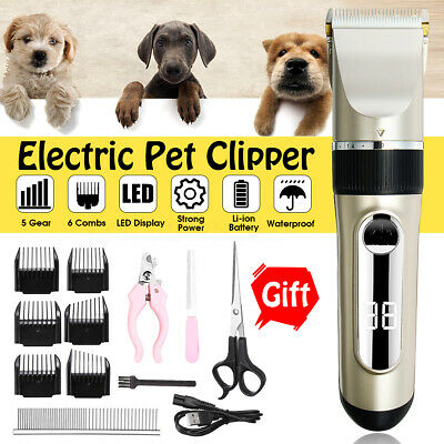 Rechargeable Electric Animal Pet Dog Cat Hair Trimmer Shaver Nail File Clipper