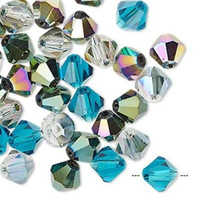Sky Light Blue 4mm 200pc Crystal Glass Value Bicone Beads BB4010