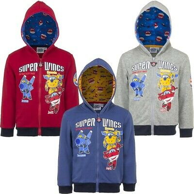 Super Wings Jermone, Donnie & Jett Grey Licence Hoodie