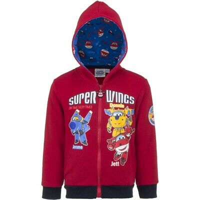 Super Wings Jerome,Donnie & Jett  Blue or Red Licence Hoodie
