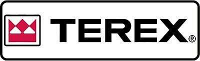 Small TEREX Logo Decal/Stickers Vinyl 75-400mm Length 22-117mm Hieght