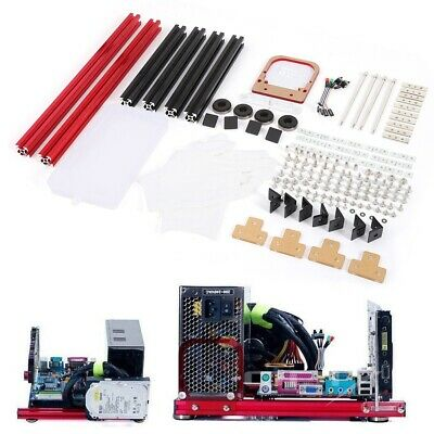 Set of Kit DIY Mini Open Aluminum Alloy Frame M-ATX Motherboard PC Computer Case