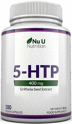 5-HTP 400mg 5HTP Griffonia Seed High Strength 180 5 HTP Capsules Vegans
