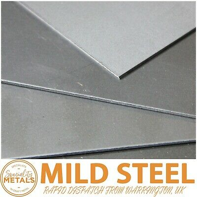 Mild Steel Sheet Plate 0.9mm to 3mm Thickness Guillotine Cut Full Range