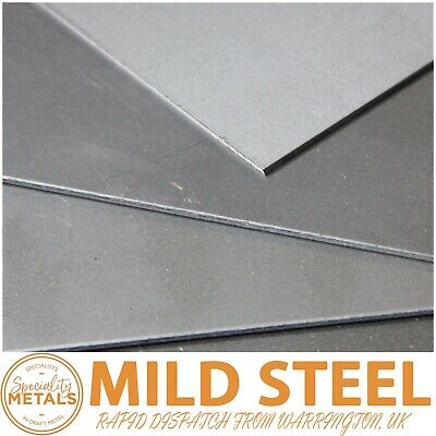 Mild Steel Sheet Plate 0.9mm to 3mm Thickness & Guillotine Cut