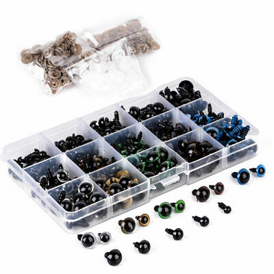 264pcs Plastic Safety Stuffed Eyes Eyeballs Bear Doll Toys Animal Craft 6-12mm