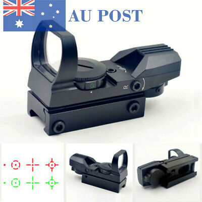 Tactical Holographic Red/Green Reflex Reticle Dot Sight Scope For Airsoft Hunt