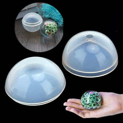 DIY Round Sphere Ball Shape Silicone Mold Mould for Pendant Jewelry Making Resin